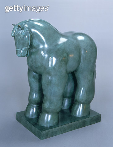 <b>Title</b> : Horse, 1999 (patinated bronze)Additional InfoCaballo;<br><b>Medium</b> : patinated bronze<br><b>Location</b> : Private Collection<br> - gettyimageskorea