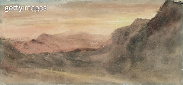 <b>Title</b> : Eskhause, Scawfell, 1806 (w/c on paper)Additional InfoScafell Pike is the highest mountain in England;<br><b>Medium</b> : watercolour on paper<br><b>Location</b> : Leeds Museums and Galleries (City Art Gallery) U.K.<br> - gettyimageskorea