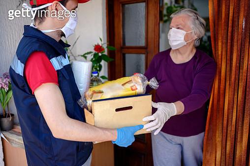 Food delivering at home address - gettyimageskorea