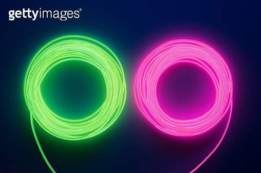 Neon Colored LED Cable - gettyimageskorea