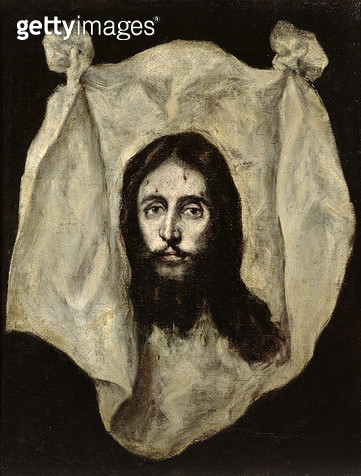 <b>Title</b> : Face of the Christ (oil on canvas)<br><b>Medium</b> : oil on canvas<br><b>Location</b> : Prado, Madrid, Spain<br> - gettyimageskorea