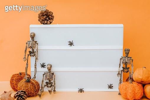 empty lightbox in hallowen decoration - gettyimageskorea