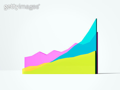 Multi colored line chart - gettyimageskorea