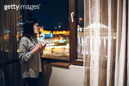 Chatting and looking cityscape - gettyimageskorea
