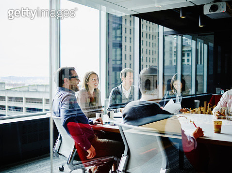 Businesspeople meeting in office conference room - gettyimageskorea