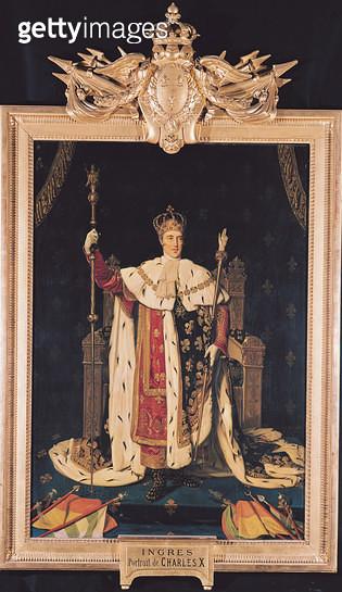 <b>Title</b> : Portrait of Charles X (1757-1836) in Coronation Robes, 1829 (oil on canvas)<br><b>Medium</b> : oil on canvas<br><b>Location</b> : Musee Bonnat, Bayonne, France<br> - gettyimageskorea