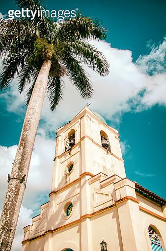 Iglesia del Sagrado Corazón de Jesús. Viñales, Cuba. - gettyimageskorea