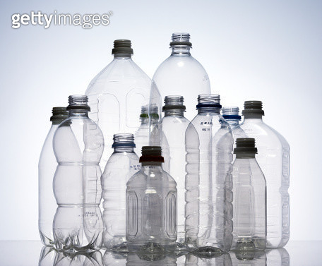 Group of empty plastic bottles, studio shot - gettyimageskorea