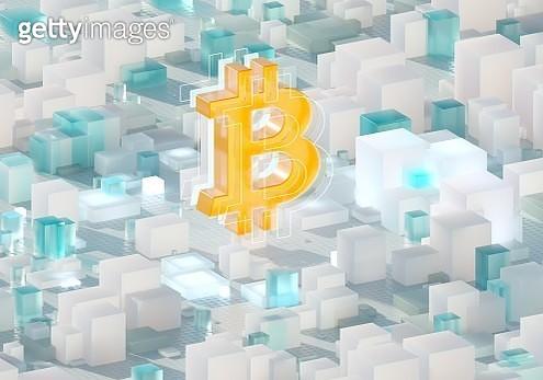 Bitcoin sign - gettyimageskorea