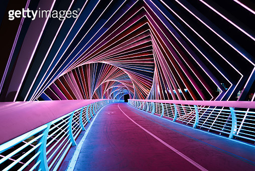 Rainbow Bridge at night - gettyimageskorea