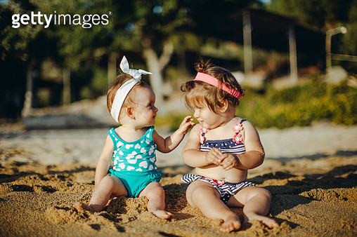 Friends for life at the beach - gettyimageskorea