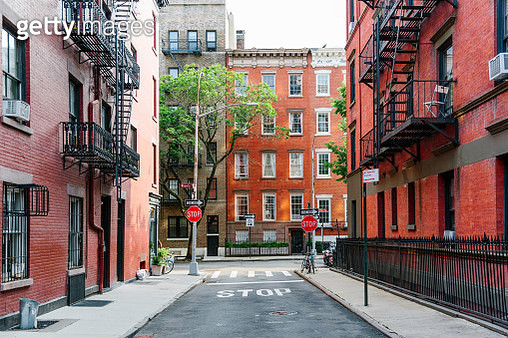 Gay Street in Greenwich Village, New York City, USA - gettyimageskorea