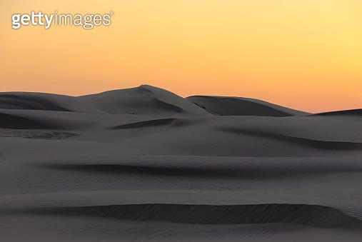 Sunset ambiance of Gobi sand dune - gettyimageskorea