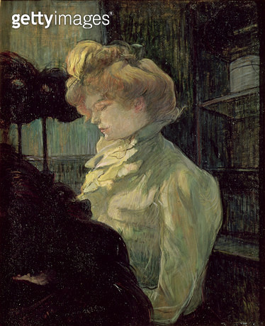 <b>Title</b> : The Milliner, 1900 (board)<br><b>Medium</b> : oil on board<br><b>Location</b> : Musee Toulouse-Lautrec, Albi, France<br> - gettyimageskorea