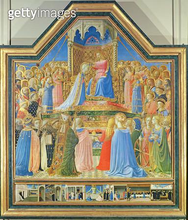 <b>Title</b> : Coronation of the Virgin, c.1430-32 (tempera on panel) (for detail see 93858)<br><b>Medium</b> : tempera on panel<br><b>Location</b> : Louvre, Paris, France<br> - gettyimageskorea