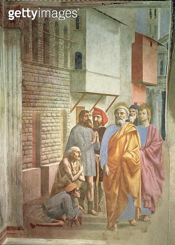 <b>Title</b> : St. Peter Healing With His Shadow, c.1427 (fresco)<br><b>Medium</b> : <br><b>Location</b> : Brancacci Chapel, Santa Maria del Carmine, Florence, Italy<br> - gettyimageskorea