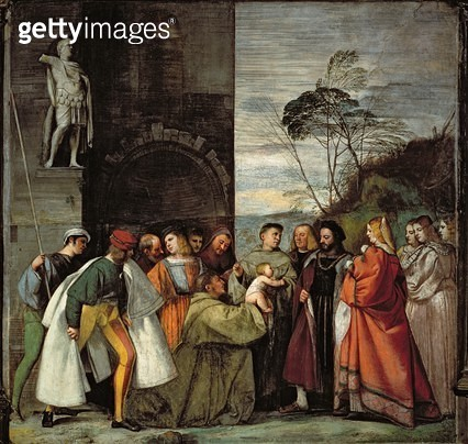 The Miracle of the Speech of the Newborn Child/ 1511 (fresco) - gettyimageskorea