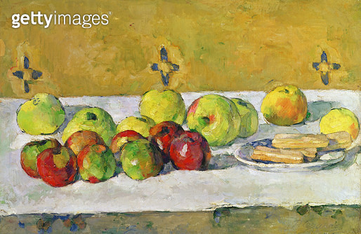 <b>Title</b> : Apples and Biscuits, c.1877 (oil on canvas)<br><b>Medium</b> : oil on canvas<br><b>Location</b> : Private Collection<br> - gettyimageskorea