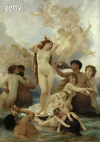 <b>Title</b> : The Birth of Venus, 1879 (oil on canvas)<br><b>Medium</b> : oil on canvas<br><b>Location</b> : Musee d'Orsay, Paris, France<br> - gettyimageskorea