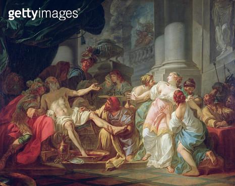 <b>Title</b> : The Death of Seneca, 1773 (oil on canvas)<br><b>Medium</b> : oil on canvas<br><b>Location</b> : Musee de la Ville de Paris, Musee du Petit-Palais, France<br> - gettyimageskorea