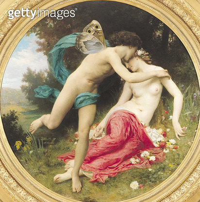 <b>Title</b> : Flora and Zephyr, 1875 (oil on canvas)<br><b>Medium</b> : oil on canvas<br><b>Location</b> : Musee des Beaux-Arts, Mulhouse, France<br> - gettyimageskorea