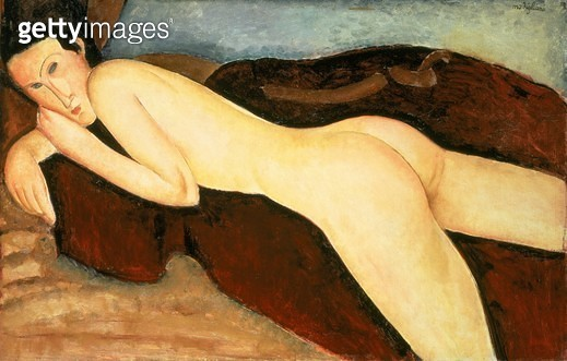 <b>Title</b> : Reclining Nude from the Back (Nu Couche de Dos) 1917 (oil on canvas)<br><b>Medium</b> : oil on canvas<br><b>Location</b> : The Barnes Foundation, Merion, Pennsylvania, USA<br> - gettyimageskorea