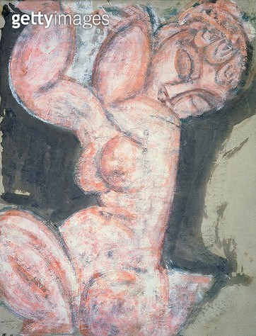<b>Title</b> : Pink Nude (pastel on paper)<br><b>Medium</b> : pastel on paper<br><b>Location</b> : The Barnes Foundation, Merion, Pennsylvania, USA<br> - gettyimageskorea