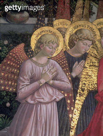 <b>Title</b> : Angels, 1459 (fresco) (detail)<br><b>Medium</b> : <br><b>Location</b> : Palazzo Medici-Riccardi, Florence, Italy<br> - gettyimageskorea