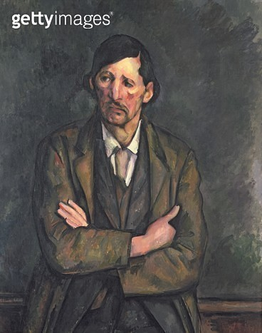 <b>Title</b> : Man with Crossed Arms, c.1899 (oil on canvas)<br><b>Medium</b> : oil on canvas<br><b>Location</b> : Private Collection<br> - gettyimageskorea
