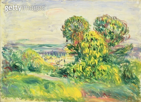 <b>Title</b> : Green Trees, 1890 (oil on canvas)<br><b>Medium</b> : oil on canvas<br><b>Location</b> : The Barnes Foundation, Merion, Pennsylvania, USA<br> - gettyimageskorea