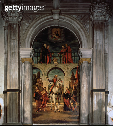 <b>Title</b> : St. Vitalis and Saints<br><b>Medium</b> : <br><b>Location</b> : San Vitale, Venice, Italy<br> - gettyimageskorea