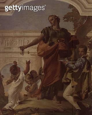 <b>Title</b> : Charity Dispensing Alms (fresco)<br><b>Medium</b> : <br><b>Location</b> : Villa Loschi, Vicenza, Italy<br> - gettyimageskorea