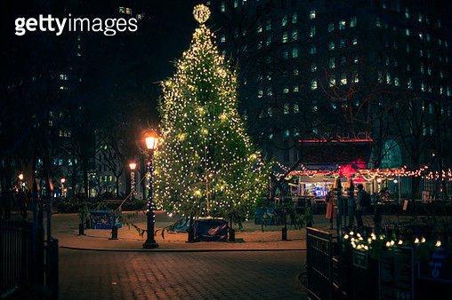 Madison Square Park at Christmas time - gettyimageskorea