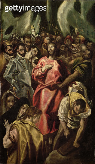 <b>Title</b> : The Mocked Christ (oil on canvas)<br><b>Medium</b> : oil on canvas<br><b>Location</b> : The Barnes Foundation, Merion, Pennsylvania, USA<br> - gettyimageskorea