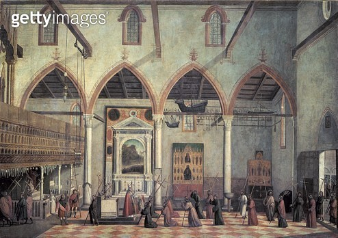 <b>Title</b> : Apparition of the Crucified of Mount Ararat in the Church of Sant' Antonio di Castello, c.1512<br><b>Medium</b> : <br><b>Location</b> : <br> - gettyimageskorea