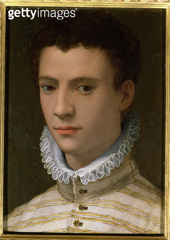 <b>Title</b> : Portrait of a Young Man (oil on copper)<br><b>Medium</b> : oil on copper<br><b>Location</b> : Musee des Beaux-Arts, Nantes, France<br> - gettyimageskorea