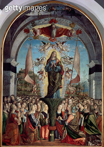 <b>Title</b> : Glorification of St. Ursula and her Companions<br><b>Medium</b> : <br><b>Location</b> : Galleria dell' Accademia, Venice, Italy<br> - gettyimageskorea