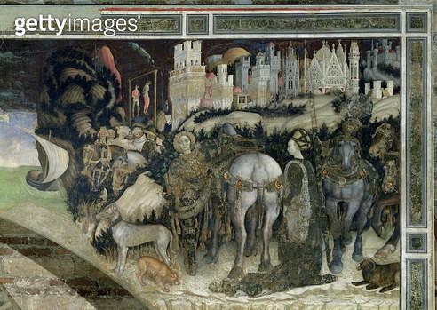 <b>Title</b> : St. George Rescuing the Princess of Trebizond, c.1433-38 (fresco)Additional InfoSaint Georges et la Princesse;<br><b>Medium</b> : <br><b>Location</b> : Sant' Anastasia, Verona, Italy<br> - gettyimageskorea