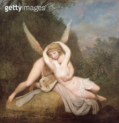 <b>Title</b> : Cupid and Psyche (oil on canvas)<br><b>Medium</b> : <br><b>Location</b> : Museo Correr, Venice, Italy<br> - gettyimageskorea