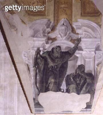 <b>Title</b> : David and Bathsheba<br><b>Medium</b> : fresco<br><b>Location</b> : Galleria dell' Accademia, Venice, Italy<br> - gettyimageskorea