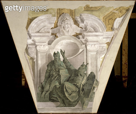 <b>Title</b> : Moses and Aaron (fresco)<br><b>Medium</b> : fresco<br><b>Location</b> : Galleria dell' Accademia, Venice, Italy<br> - gettyimageskorea