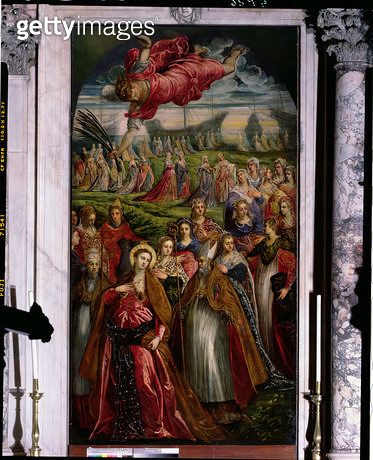 <b>Title</b> : St. Ursula and the Eleven Thousand Virgins (oil on panel)Additional InfoSaint Ursule et les Onze Mille Vierges;<br><b>Medium</b> : <br><b>Location</b> : San Lazzaro dei Mendicanti, Venice, Italy<br> - gettyimageskorea