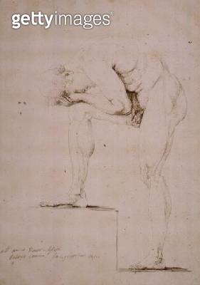 <b>Title</b> : Male Nude Crying (pencil on paper)<br><b>Medium</b> : pencil<br><b>Location</b> : Museo Correr, Venice, Italy<br> - gettyimageskorea
