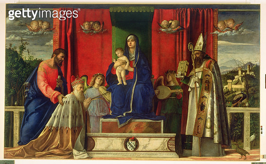 <b>Title</b> : Madonna and Child (Barbarigo Altarpiece) 1488Additional InfoMadonna with Angels and Saints, and Doge Agostino Barbarigo;<br><b>Medium</b> : <br><b>Location</b> : San Pietro Martire, Murano, Italy<br> - gettyimageskorea