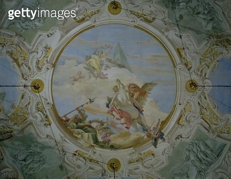 <b>Title</b> : Bellerophon Riding Pegasus, c.1746-47 (fresco)<br><b>Medium</b> : <br><b>Location</b> : Palazzo Labia, Venice, Italy<br> - gettyimageskorea