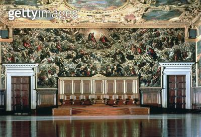 <b>Title</b> : Paradise (oil on canvas)<br><b>Medium</b> : <br><b>Location</b> : Palazzo Ducale, Venice, Italy<br> - gettyimageskorea