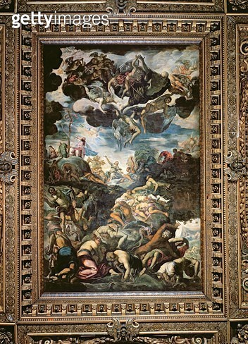 <b>Title</b> : The Fall of Man<br><b>Medium</b> : <br><b>Location</b> : Scuola Grande di San Rocco, Venice, Italy<br> - gettyimageskorea