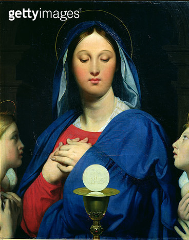 <b>Title</b> : The Virgin of the Host, 1866 (oil on canvas)<br><b>Medium</b> : oil on canvas<br><b>Location</b> : Musee Bonnat, Bayonne, France<br> - gettyimageskorea