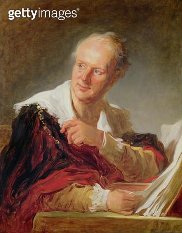 <b>Title</b> : Portrait of Denis Diderot (1715-84) c.1769 (oil on canvas)<br><b>Medium</b> : oil on canvas<br><b>Location</b> : Louvre, Paris, France<br> - gettyimageskorea