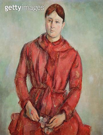 <b>Title</b> : Portrait of Madame Cezanne in a Red Dress, c.1890 (oil on canvas)<br><b>Medium</b> : oil on canvas<br><b>Location</b> : Museu de Arte, Sao Paulo, Brazil<br> - gettyimageskorea